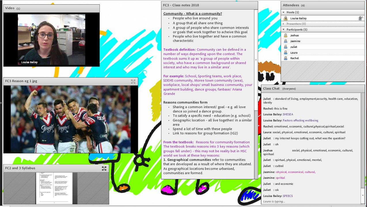 Screen capture of e-learning course
