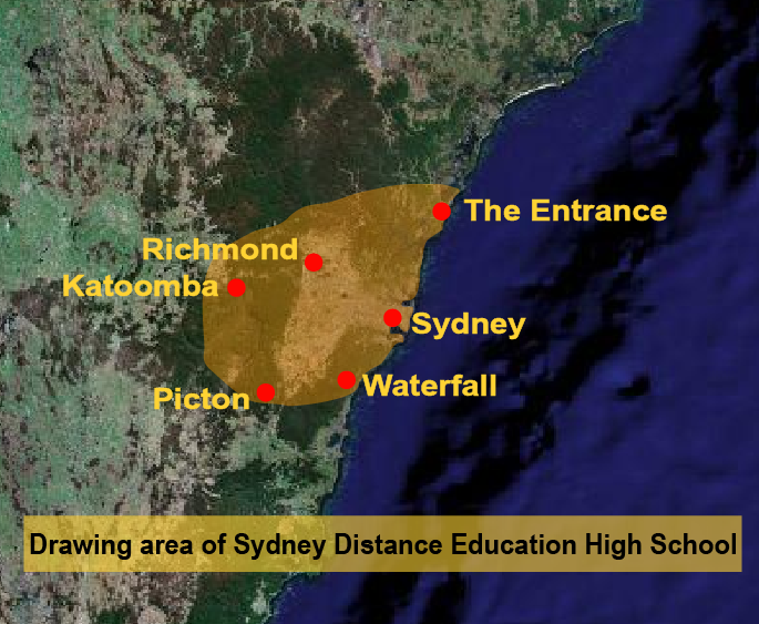 Sydney Distance Education High School locations map